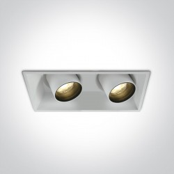 One Light podójna stylowa lampa LED Skiti 2 51211C/W/W