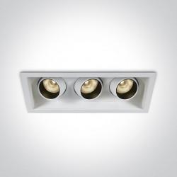 One Light potrójna lampa LED Melas 51306M/W/W