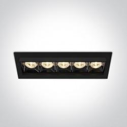 One Light wpust LED x5 Rodi 51506B/B/W