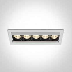 One Light wpust LED x5 Rodi 51506B/W/W