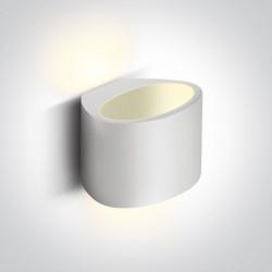 One Light kinkiet ozdobny biały Aigani 2 60042