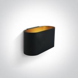 One Light czarny stylowy kinkiet Glafki 60056/B