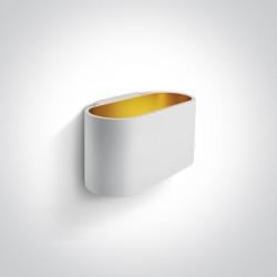 One Light biały stylowy kinkiet Glafki 60056/W