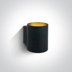 One Light klimatyczny czarny kinkiet Glafki 2 6017/B