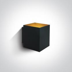 One Light kinkiet czarny sześcian Trikorifo 6017A/B