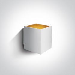 One Light kinkiet biały sześcian Trikorifo 6017A/W