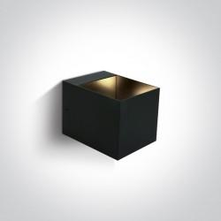 One Light kinkiet czarny dekoracyjny 6030/B