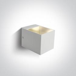 One Light kinkiet biały dekoracyjny 6030/W