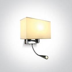 One Light kinkiet LED do hotelu Raveni 61074/C/W