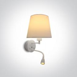 One Light lampa ścienna hotelowa Milea 61080/W/W