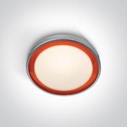 One Light plafon z pomarańczowym pierścieniem Triada 62010/G/OR