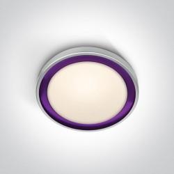 One Light plafon z fioletowym pierścieniem Triada 62010/G/V