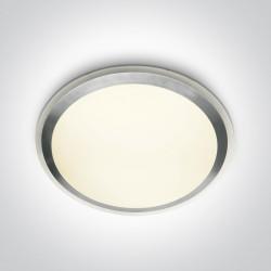 One Light plafon z szarym pierścieniem Distrato 62014/G