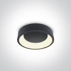 One Light stylowy plafon LED antracyt Aidoni 62130N/AN/W