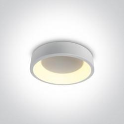 One Light stylowy biały plafon LED Aidoni 62130N/W/W