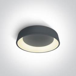 One Light antracytowy plafon LED Aidoni 2 62132N/AN/W