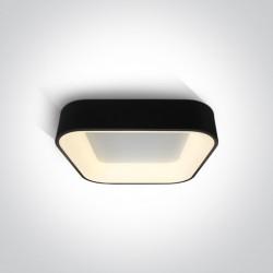One Light plafon czarny LED Meliana 62132NA/B/W