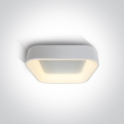 One Light plafon biały LED Meliana 62132NA/W/W