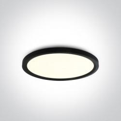 One Light czarny okrągły plafon LED Zigos 62140FB/B/C