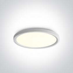 One Light biały okrągły plafon LED Zigos 62140FB/W/C