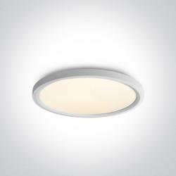 One Light biały okragły plafon LED Zigos 62140FB/W/W