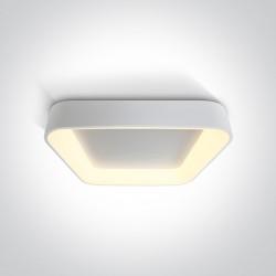 One Light stylowy plafon 600x600 Meliana 2 62142NA/W/W