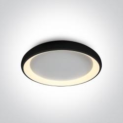 One Light stylowy czarny plafon Aidoni 4 62144N/B/W