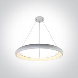 One Light wiszący biały plafon Kedros 62144NB/W/W