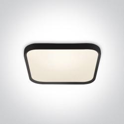 One Light plafon czarny slim kwadrat Paleomilia 62152A/B/W