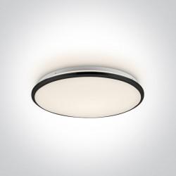 One Light stylowy plafon slim Aidonia 62154/B/W