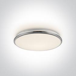 One Light stylowy plafon slim Aidonia 62154/C/W