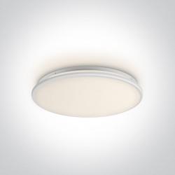 One Light stylowy plafon slim Aidonia 62154/W/W