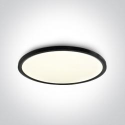 One Light stylowy czarny plafon slim Zigos 2 62160FB/B/C