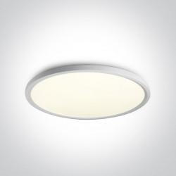 One Light stylowy biały plafon slim Zigos 2 62160FB/W/C