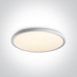 One Light stylowy biały plafon slim Zigos 2 62160FB/W/W