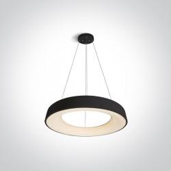 One Light wiszący plafon LED czarny Kapsala 62180NB/B/W
