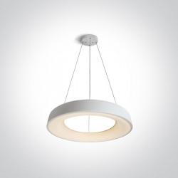 One Light wiszący plafon LED biały Kapsala 62180NB/W/W