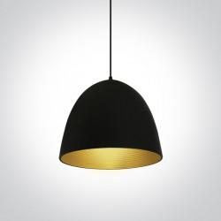 One Light lampa wisząca czarna Koufalos 63016A/B/BS