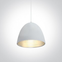 One Light lampa wisząca biała Koufalos 63016A/W/G