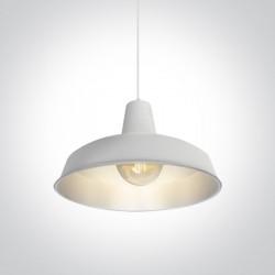 One Light retro lampa biała-szara wisząca Kriselia 63020/WG