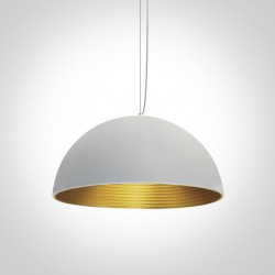 One Light lampa wisząca biała mosiądz Diasello 2 63022A/W/BS