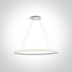 One Light lampa wisząca pierścień Charma 63046/W