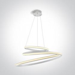 One Light wyjątkowa lampa wisząca Charma 3 63046B/W