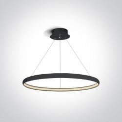 One Light lampa wisząca czarny pierścień Dolcedo 63048/B
