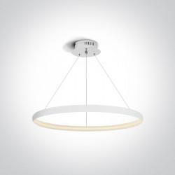 One Light lampa biała wisząca pierścień Dolcedo 63048/W