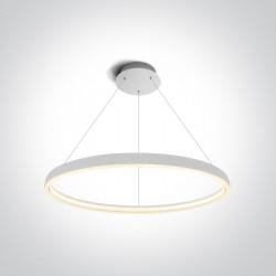One Light stylowy wiszący pierścień LED Dolcedo 2 63050/W