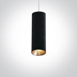 One Light lampa wisząca rura czarna Kallifoni 63105M/B