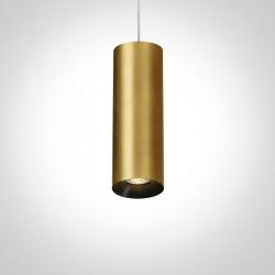 One Light lampa wisząca mosiądz rura Kallifoni 63105M/BBS