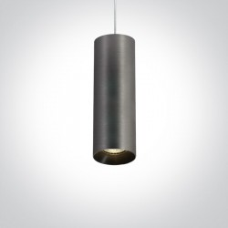 One Light lampa szara wisząca rura Kallifoni 63105M/MG