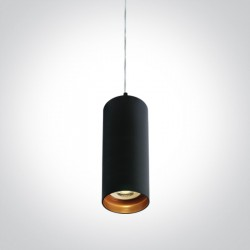 One Light mała czarna lampa wisząca Ampeliko 63105N/B